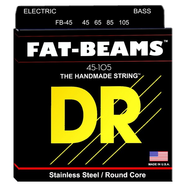 DR Strings Fat Beams Bass Strings Medium, 45-105 - pack
