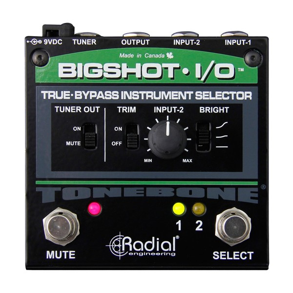 Radial Tonebone BigShot I/O True Bypass Instrument Selector, Top Down