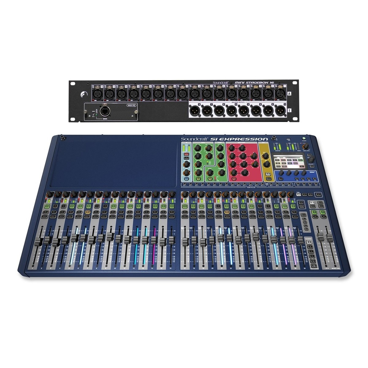 Click to view product details and reviews for Soundcraft Si Expression 3 Mixer Digital Stagebox Bundle.
