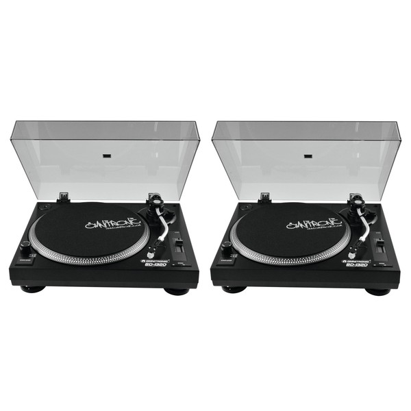 Omnitronic BD-1320 Turntables Black, Pair