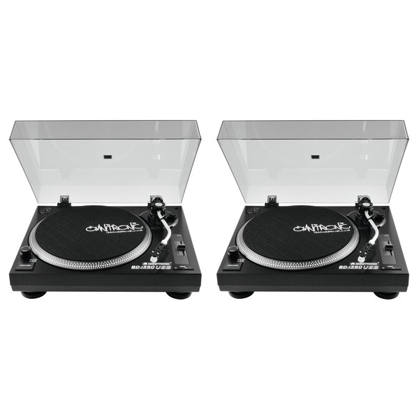 Omnitronic BD-1390 Turntables Black, Pair