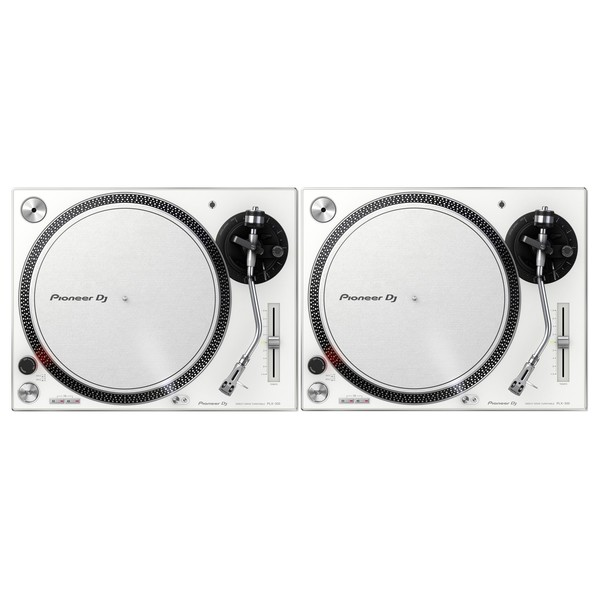 Pioneer PLX-500 Direct Drive Turntables White, Pair