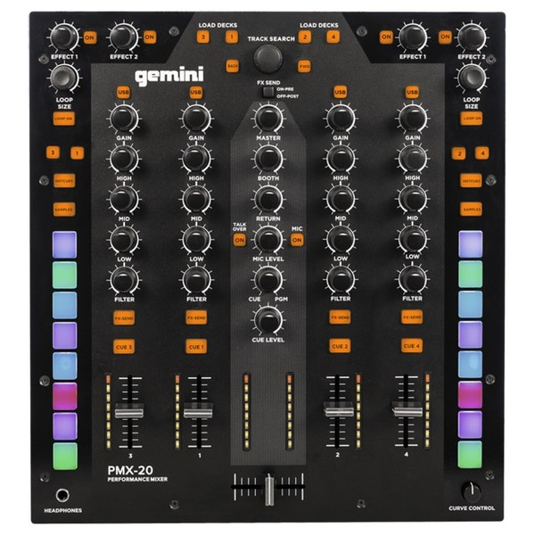 Gemini PMX-20 DJ Mixer top