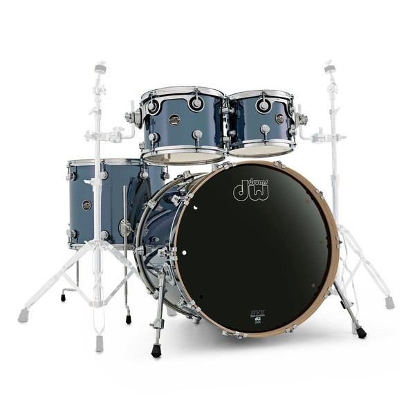 DW Drums Performance 22'' 4pc Shell Pack, Chrome Shadow - Main Image