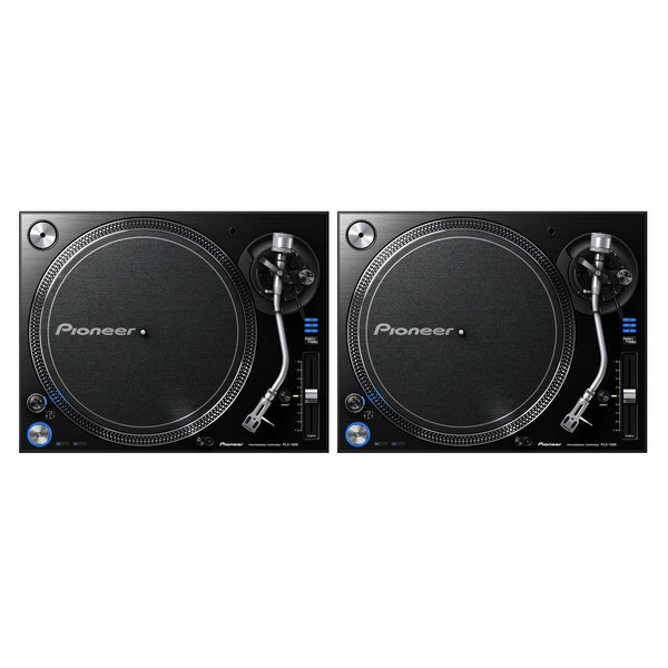 Pioneer PLX-1000 Direct Drive Turntable, Pair - Full Bundle