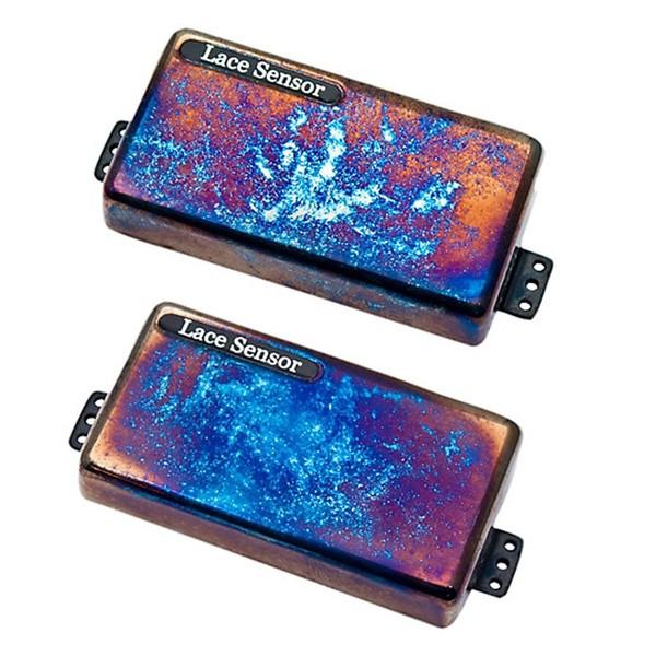 Lace Sensor Finger Burners Humbucker Set, Burnt Chrome - Front