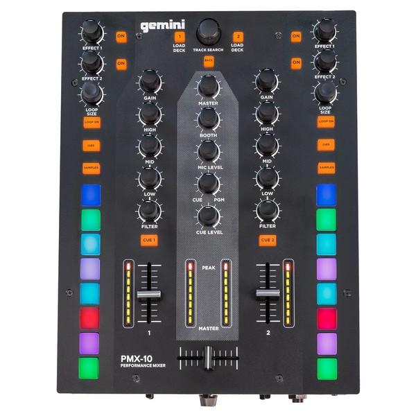 Gemini PMX-10 DJ Mixer - Top