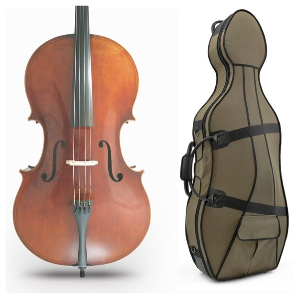 Amati Brothers Cremonese Cello Copy, 1616 Model and Set-Up Pack