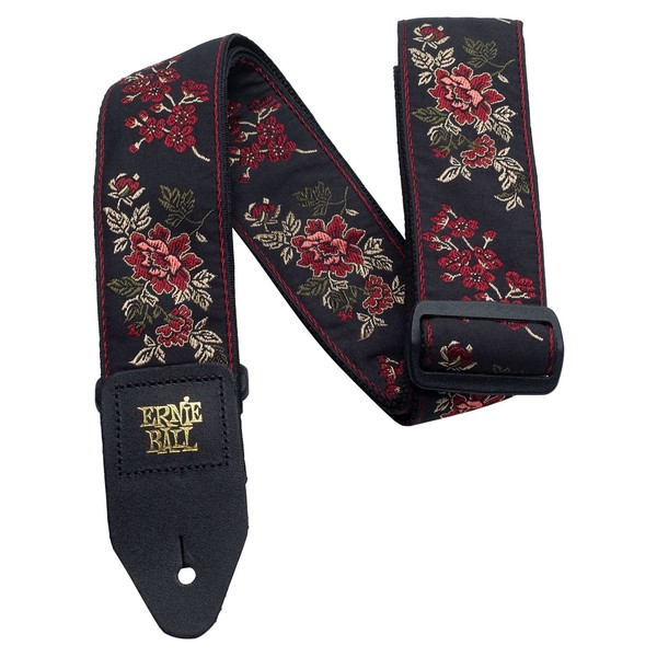Ernie Ball Classic Jaquard Strap, Red Rose - Main