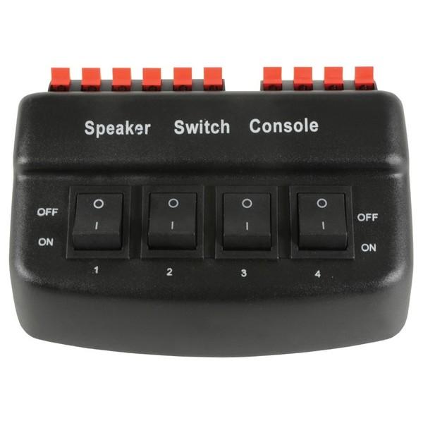 4-Way Loudspeaker Selector - black version