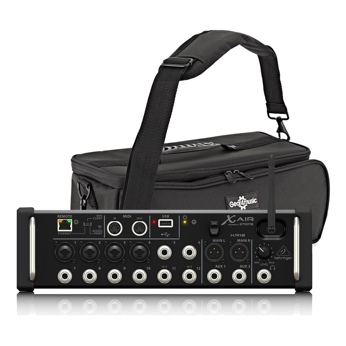 behringer x air xr12 12 channel digital mixer with padded bag at gear4music. Black Bedroom Furniture Sets. Home Design Ideas