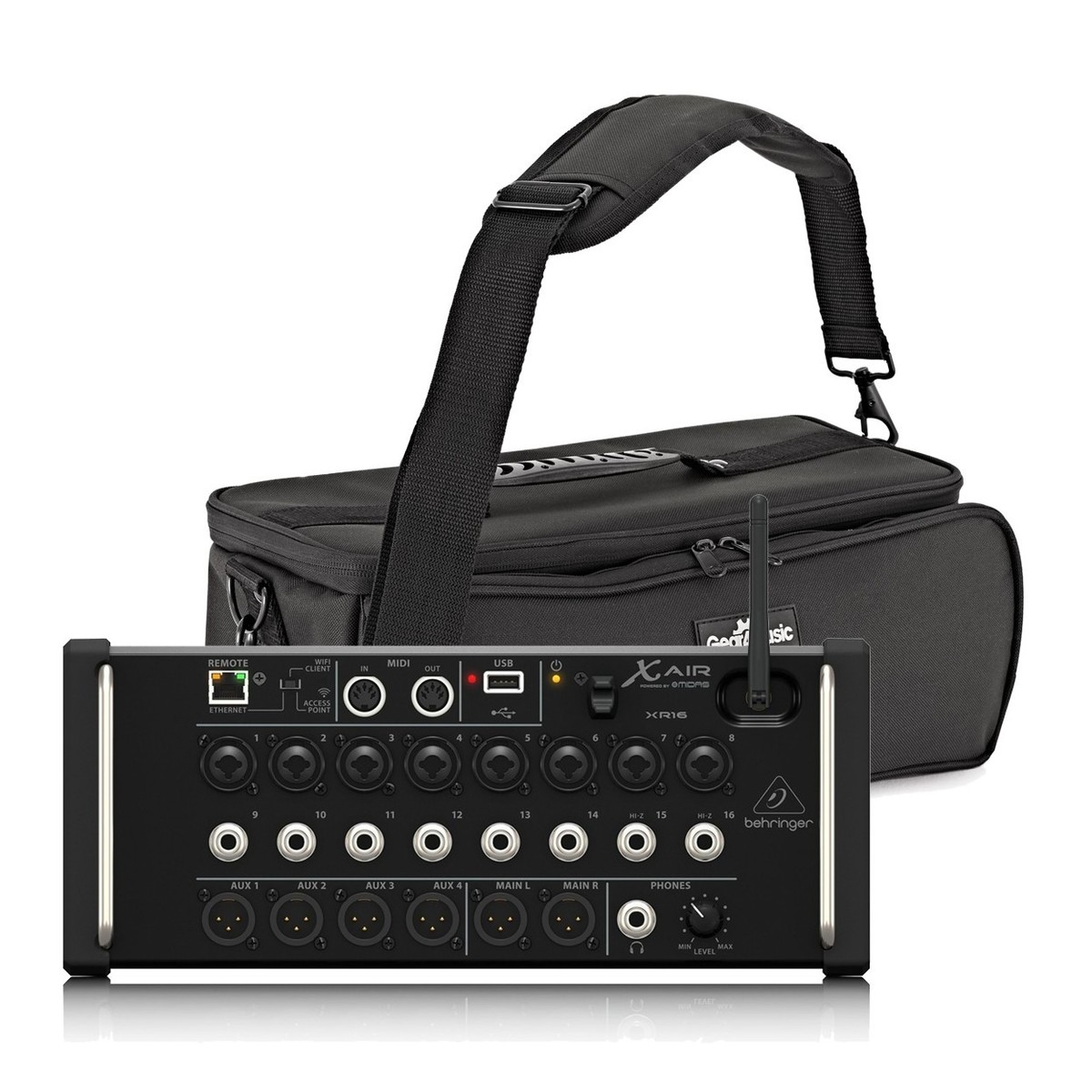 behringer x air xr16 16 channel digital mixer with padded bag at gear4music. Black Bedroom Furniture Sets. Home Design Ideas