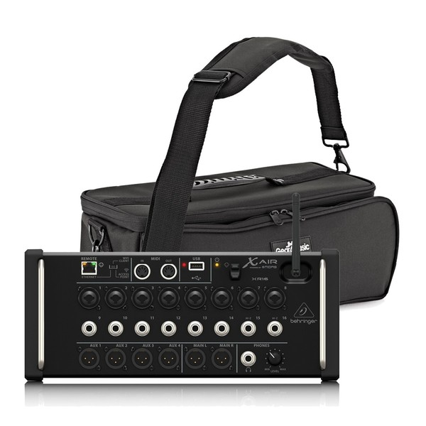 Behringer X AIR XR16 16-Channel Digital Mixer with Padded Bag, Full Package
