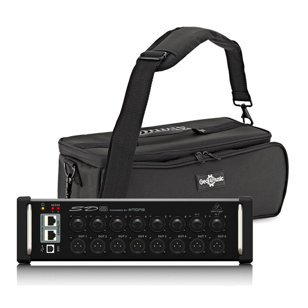 Behringer SD8 Digital Stage Box with Padded Bag, Full Package