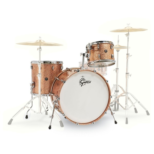 "Gretsch Renown Maple 24"" 3pc Shell Pack, Copper Sparkle - Main Image"