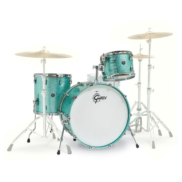 Gretsch Renown Maple 24'' 3pc Shell Pack, Turquoise Sparkle - Main Image