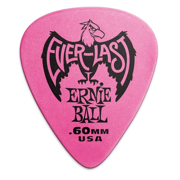 Ernie Ball Everlast 0.60mm Pink, 12 Pack - Front