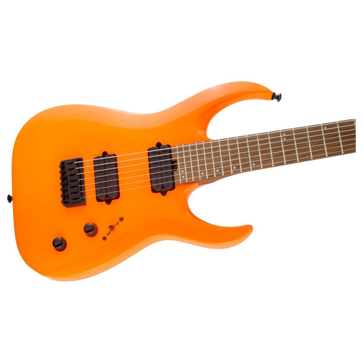 jackson pro misha mansoor juggernaut ht 7 neon orange at gear4music. Black Bedroom Furniture Sets. Home Design Ideas