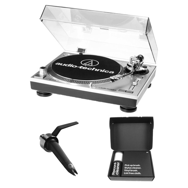Audio-Technica AT LP120 with Ortofon Concorde Mix and Cleaning Kit