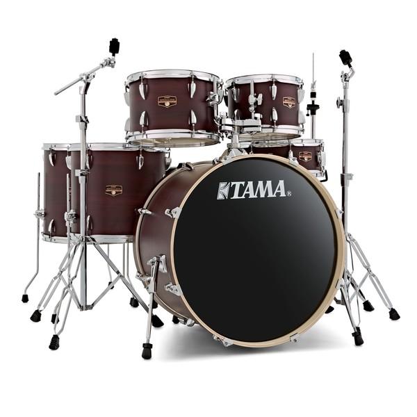 Tama Imperialstar 6pc Shell Pack, Burgundy Walnut Wrap main