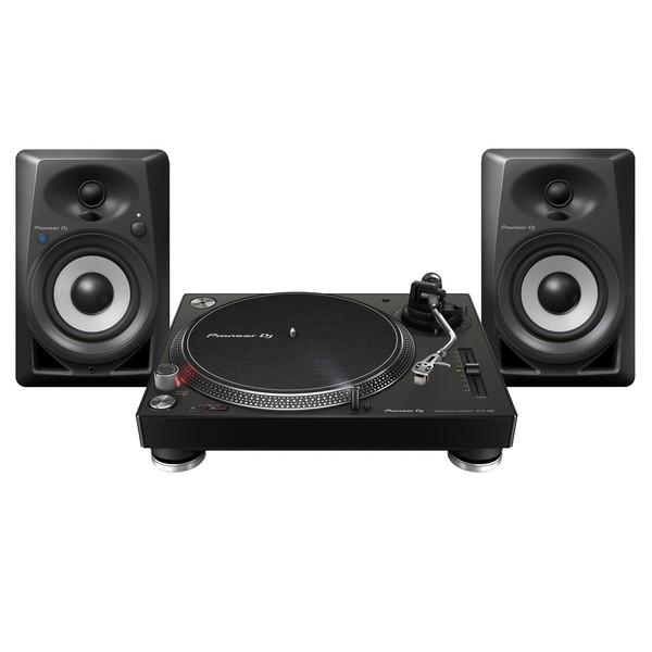 Pioneer PLX-500 Turntable with DM-40BT Monitor Speakers, Black - Full Bundle