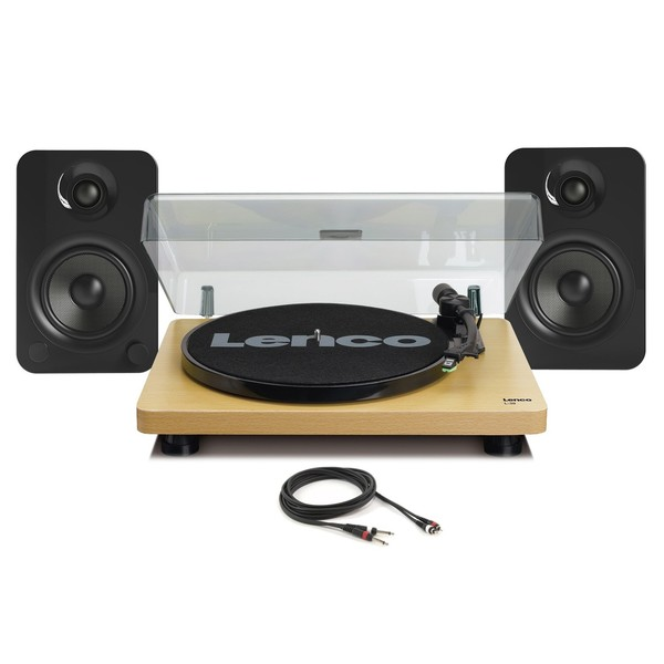 Lenco L-30 Turntable with Kanto YU4 Speakers - Full Bundle