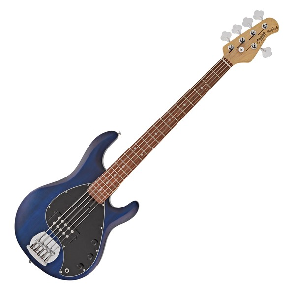 S.U.B by Sterling Ray5 Bass RW, Trans Blue Satin