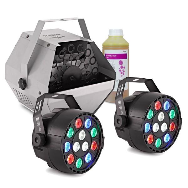 Sol Mini Par Party Lights Pair with Bubbles