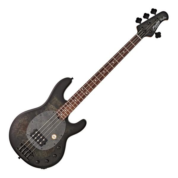 DISC Sterling StingRay Bass RW, Poplar Burl Trans Black