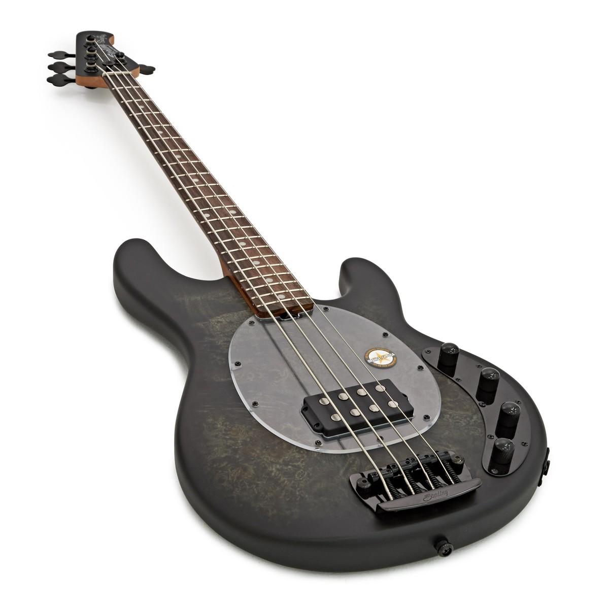 sterling stingray bass rw poplar burl trans black at gear4music. Black Bedroom Furniture Sets. Home Design Ideas