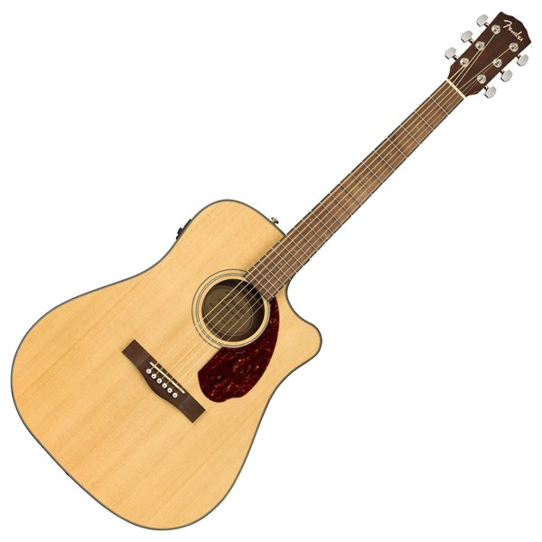 Fender CD-140SCE Dreadnought Electro Acoustic WN, Natural Front View