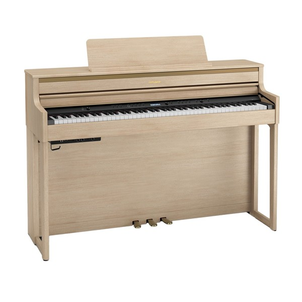Roland HP704 Digital Piano, Light Oak