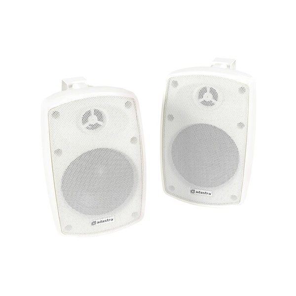 Adastra BH4 4'' IP44 Background Speakers, White, Front