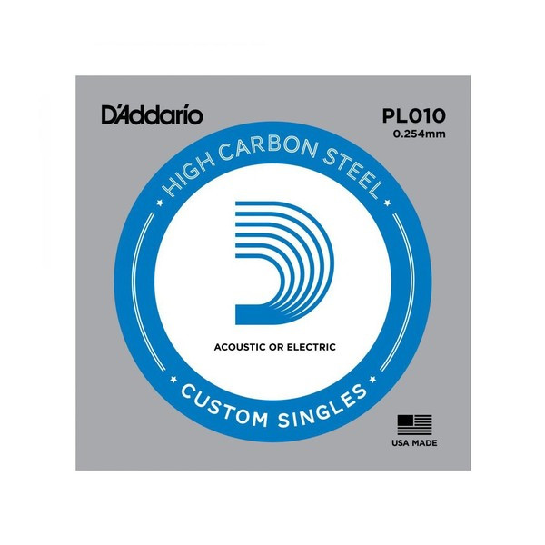 D'Addario Single Plain Steel .010