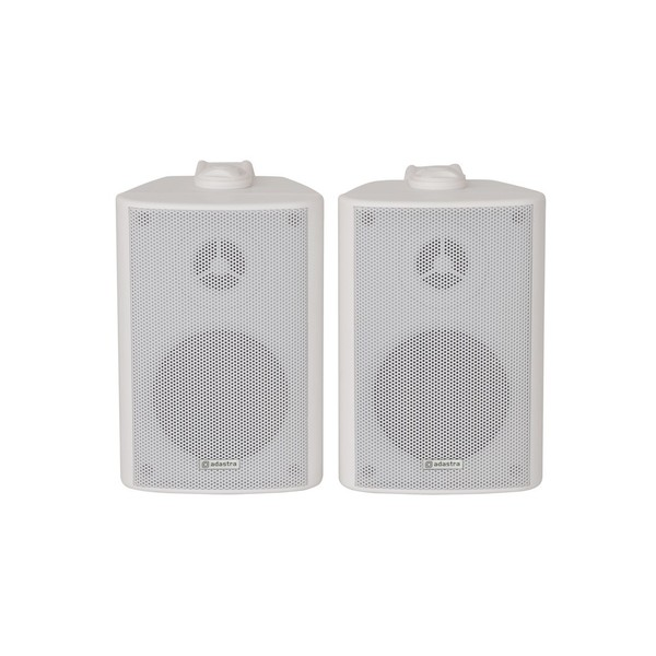 Adastra BC3W 3'' Stereo Background Speakers, White, Front