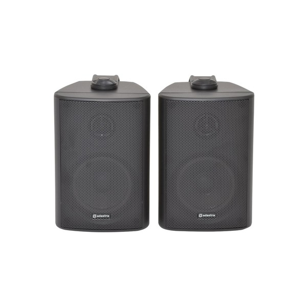 Adastra BC3B 3'' Stereo Background Speakers, Black, Front