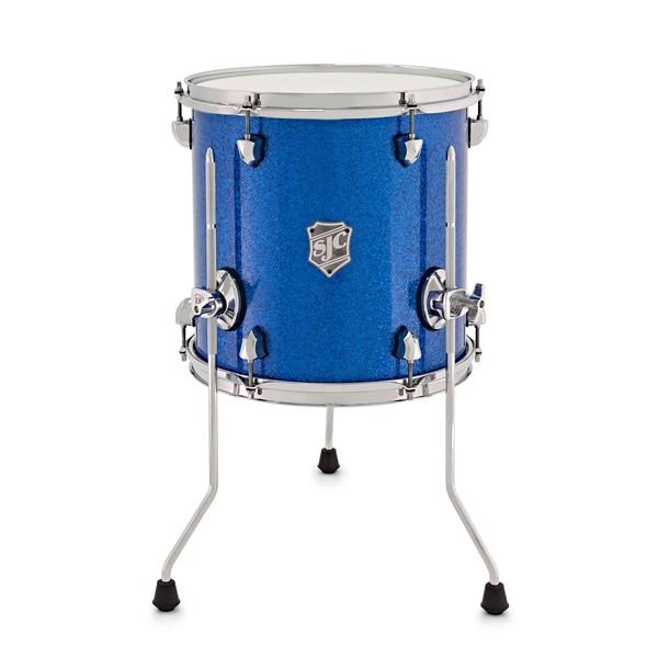 SJC Custom Drums 13 x 13 Floor Tom, Blue Glass Glitter for Ed Payne main