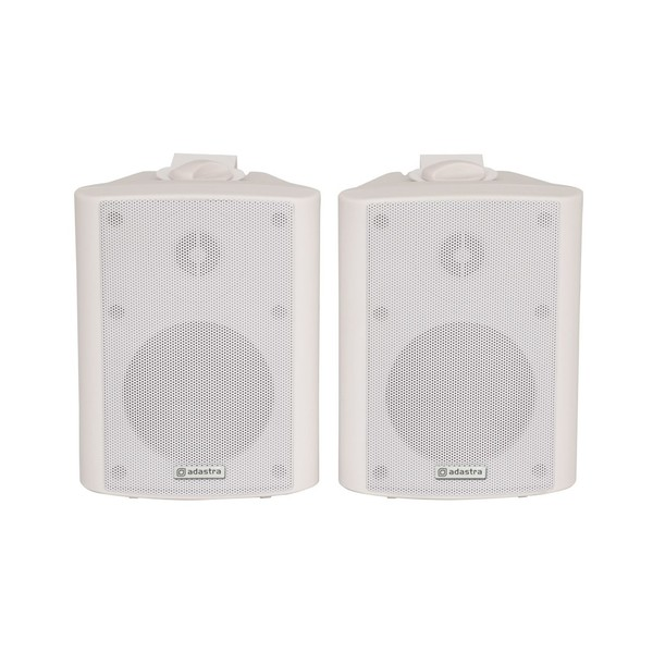 Adastra BC4W 4'' Stereo Background Speakers, White, Front