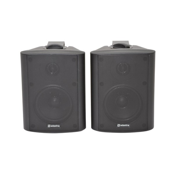 Adastra BC4B 4'' Stereo Background Speakers, Black, Front