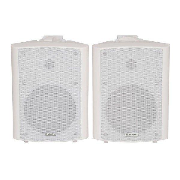 Adastra BC6W 6.5'' Stereo Background Speakers, White, Front
