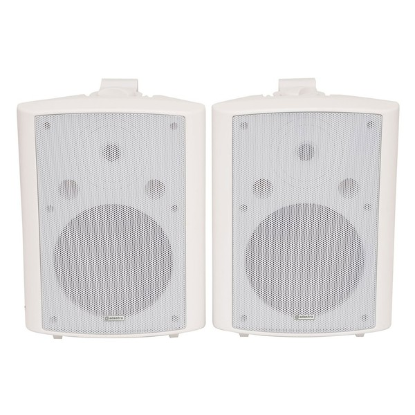 Adastra BC8W 8'' Stereo Background Speakers, White, Front