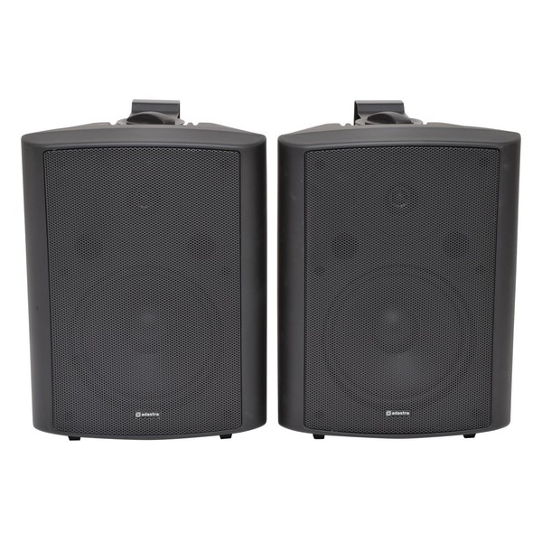Adastra BC8B 8'' Stereo Background Speakers, Black, Front