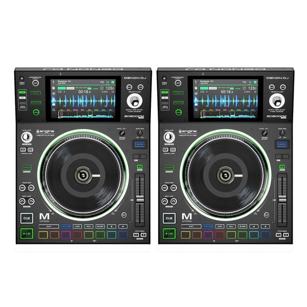 Denon DJ SC5000M Motorised Media Player, Pair - Full Bundle