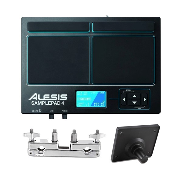 Alesis SamplePad4 with Module Mount and Multi-Clamp - Main Image