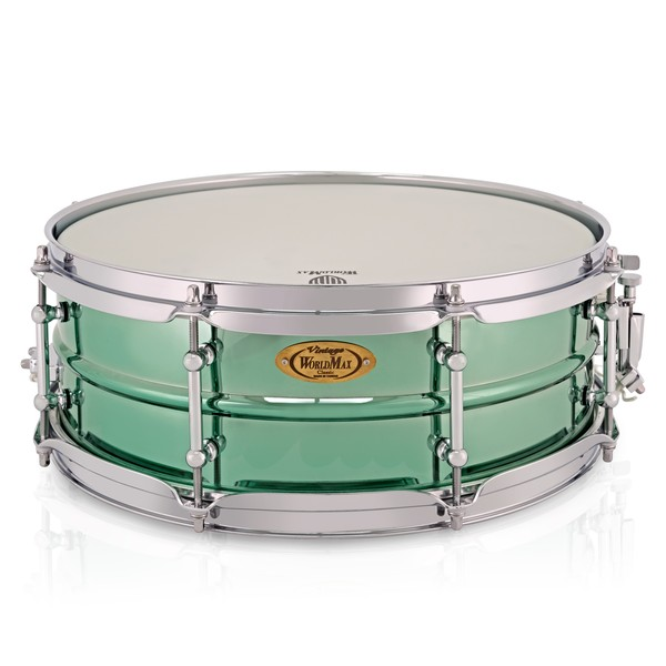Worldmax 14 x 5'' Jade Tiger Steel Snare Drum main