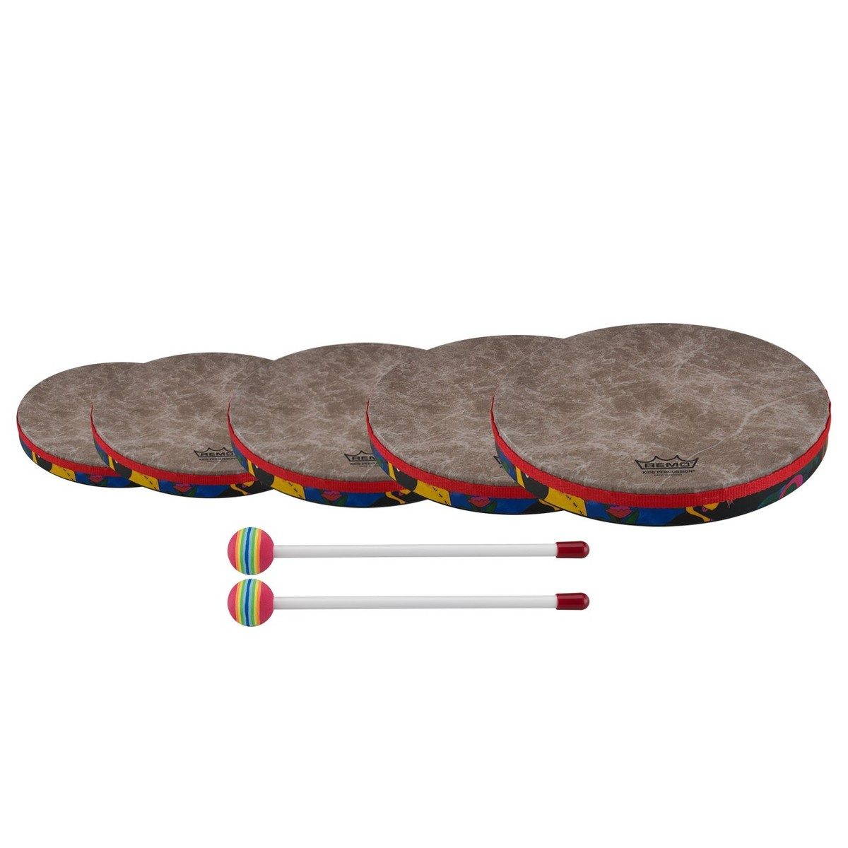 Remo Kids Hand Drums Set 6 8 10 12 And 14