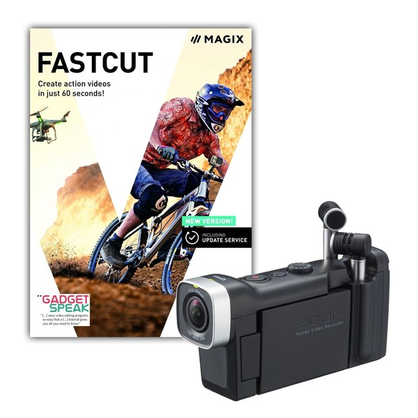Zoom Q4N Handy Video Recorder with Fastcut Video Editing Software - Full Bundle