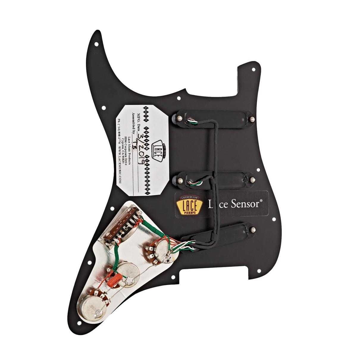 lace sensor gold loaded pickguard sss black at gear4music. Black Bedroom Furniture Sets. Home Design Ideas