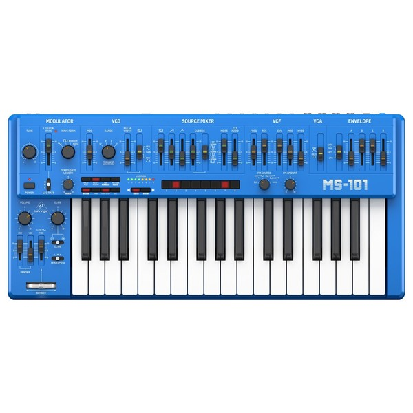 Behringer MS-101-BU Analog Synthesizer - Top
