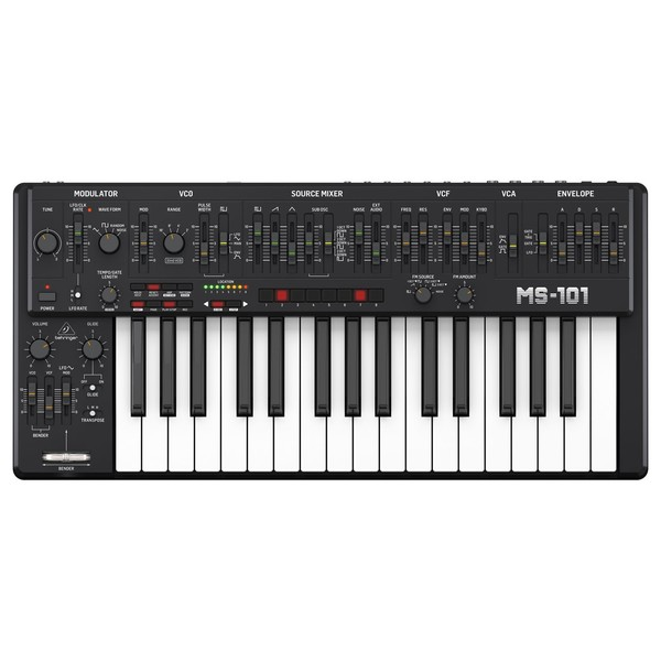 Behringer MS-101-BK Analog Synthesizer - Top